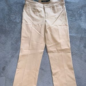 Ralph Lauren Tan Stretch Straight Leg Pant